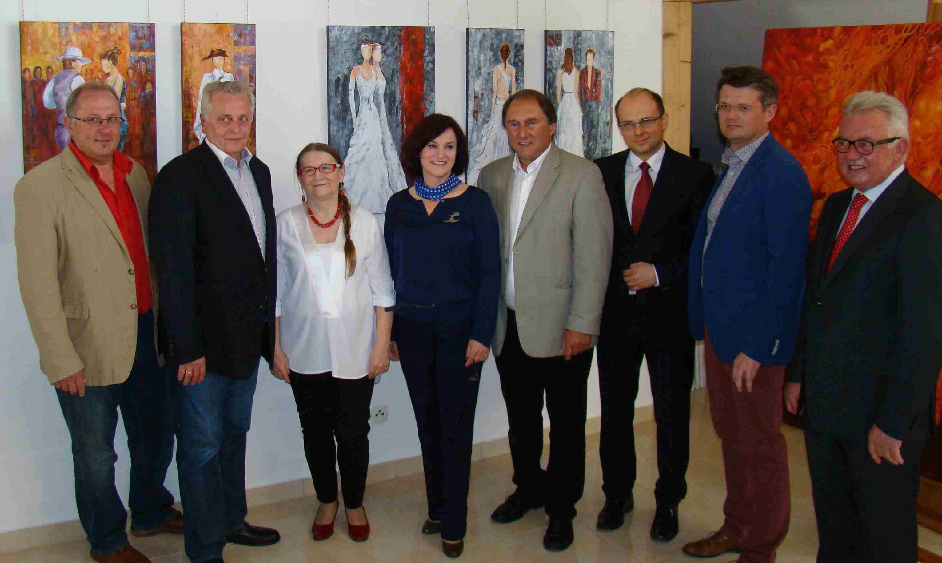 Vzbgm. Hackstock, BM Hundstorfer, L. Radwan, Mozdzierz, Friedl, , Botschafter Lorkowski, Konsul Kaczorowski