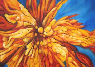 Versteinerte II Blume OilL